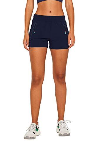 ESPRIT Sports Damen Shorts wv Sportshorts, Blau (Navy 400), W(Herstellergröße: M)