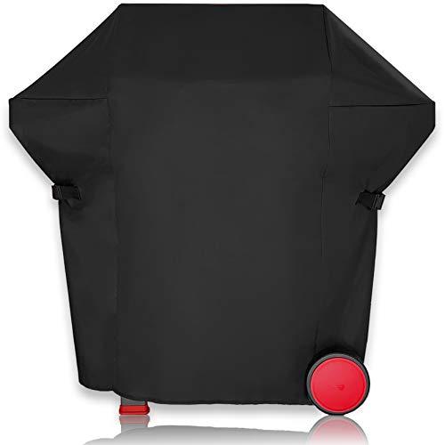 AMZBBQ® Premium Grillabdeckung, 100% Wetterfeste und UV-beständige Grillplane, wasserdichte Grillhaube für Ihren Gasgrill, Hochwertige Polyester Grill Abdeckhaube mit PU-Beschichtung (L)