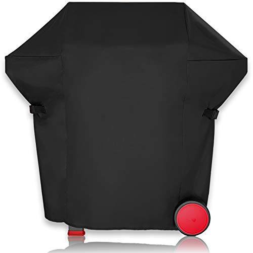 AMZBBQ Cubierta de barbacoa prémium impermeable para tu parrilla de gas, 100 % resistente a la intemperie y a los rayos UV, de poliéster de alta calidad con revestimiento de poliuretano (L)