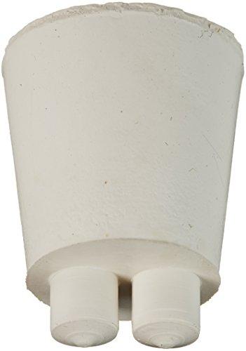 Plasticoid Twistit R6360-3-TW - Tapón de dos agujeros de goma, 24 mm de diámetro superior, 18 mm de diámetro inferior, 3 tamaños, 25 mm de longitud (caja de 500)