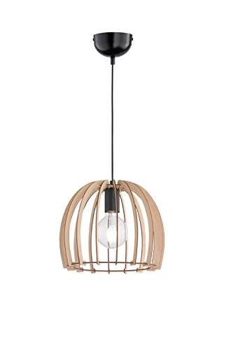 Trio Lighting Wood Colgante E27, 60 W, Madera Coloreada