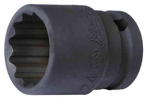 Hans - Chiave a bussola poligonali, impact/per avvitatore a impulsi, attacco quadro da 1/2 pollici (35 mm/12-punte)