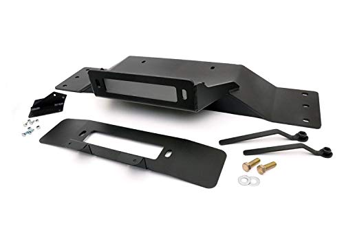 Rough Country Hidden Winch Mounting Plate (fits) 2009-2014 F150 | Recovery System | OEM Bumper Winch Mount | 1010