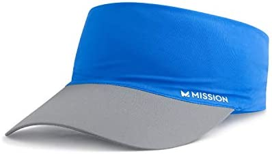 Mission Cooling Stretchy Visor Lightweight No Slip Band UPF 50 Blue product image