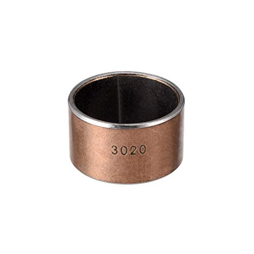 uxcell Sleeve Bearing 30mm Bore x 34mm OD x 20mm Length Plain Bearings Wrapped Oilless Bushings Pack of 1