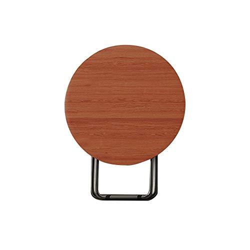 WEN HAO-wandklapptisch Startseite Klapptisch Esstisch Ist Einfach Und Bequem.Der Kunstfaserplattenkörper Typ Stahlrahmen Ist Stabil Und Nicht Wackelt. (Color : Round Table, Size : 82x82x74cm)