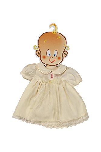 Muñecas Guca - Vestido de piqué con Organza y peucos, para muñeca de 45-50 cm, Color Beige (173)