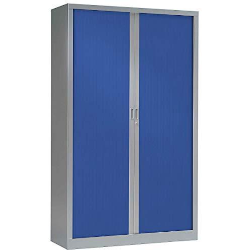 Armoire à rideaux ignifuge M1 | Aluminium | Bleu | HxLxP 1980 x 1200 x 430 | Pierre Henry -