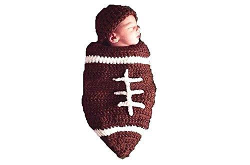 Matissa Ltd - Disfraz de ganchillo, ideal para sesión de fotos Rugby Talla:recién nacido