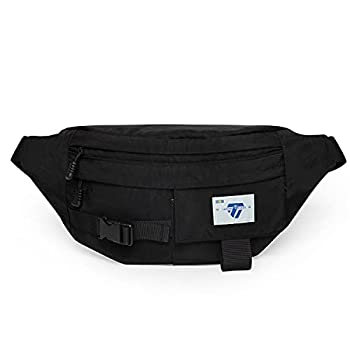 Fanny Pack for Men Women with 4- Pockets,Gifts for Enjoy Sports Festival Workout Traveling Running Casual Hands-Free Wallets Large Waist Pack Crossbody Phone Bag Carrying All Phones  Black