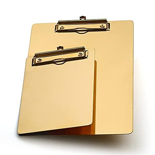 Appunti di archiviazione Metallo Dorato A5 B5 A4. Scrittura della Cartella per Appunti Pad Appunti Cartella di archiviazione del File dei Dati per L'Ufficio Memo Memo Scrittura Plastica