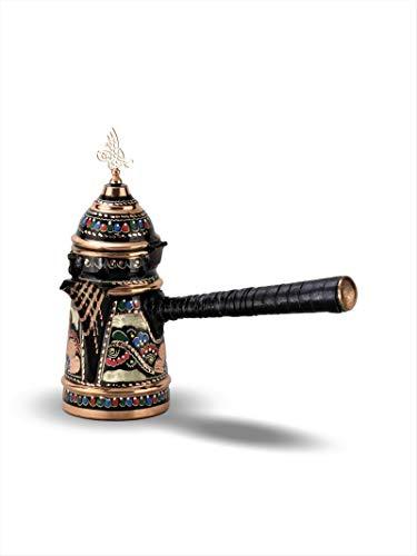 Nurdanil Turkische Gesticktes dickwandiges fur bis 4-5 tassen,Kaffeekanne Milchkanne aus Kupfer in Silber