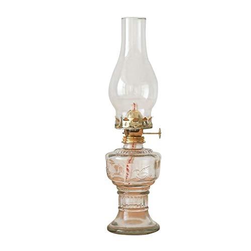 Antique Oil Lamp Kerosene Lamp Butter Lamp Oil Lamp Vintage Retro Moving House Lamp Glass Cove Buddhar Lamp Table Kerosene lamp