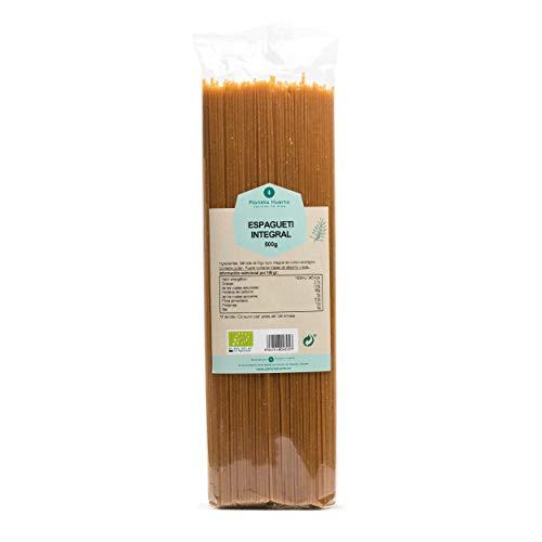 Planeta Huerto | Espaguetis de Pasta Integrales De Trigo Ecológicos, 500 gr | Naturales, Biológicos, Orgánicos y Ricos en Fibra, Vitaminas, Antioxidantes, Minerales y Grasas Saludables