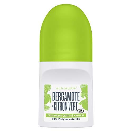 Schmidt's Déodorant d'Origine Naturelle Bille Bergamote et Citron Vert Certifié Cosmos Naturel par Ecocert, Certifié Vegan 50ml
