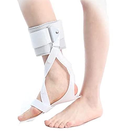 Soporte de órtesis de tobillo y pie, órtesis médica de tobillo y pie Ortesis de caída del pie Corrección postural para la caída del pie, lesión del tendón de Aquiles, mantenimiento del pie der