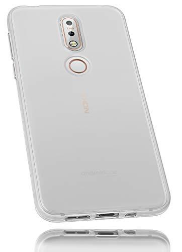 mumbi Hülle kompatibel mit Nokia 7.1 2018 Handy Hülle Handyhülle, transparent weiss