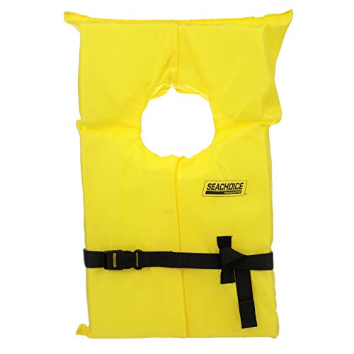 Seachoice 86020 Life Vest, Type II Personal Flotation Device – Yellow – Adult