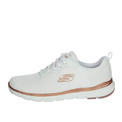 Skechers Women's Flex Appeal 3.0-first Insight Trainers, Whi