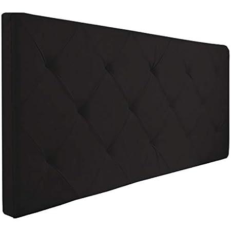 Probache - Tête de lit capitonnée EVA PVC Noir pour lit 140 et 160 cm