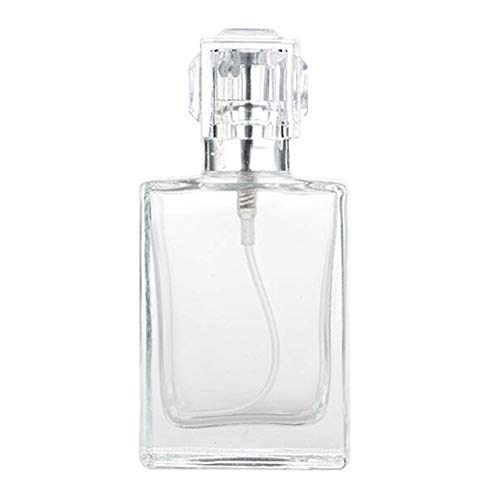 RIsxffp Bouteille de parfum en spray vide de 30 ml en verre transparent Portable Voyage Cosmétique Rechargeable argent