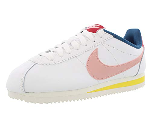 Nike Women's Cortez Summit Wht/Gym Red/Chrome YLW/Coral Stardust (807471 114) - 7.5
