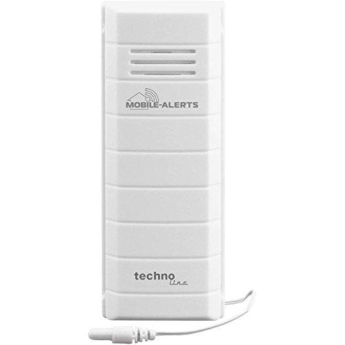 Mobile Alerts MA 10101 Temperatursender, Zusatzsender, perfekt zur Überwachung der Temperatur von Aquarium oder Gartenteich, Datenübertragung auf Ihr Smartphone, Alarmierung vi Push-Mitteilung, weiß