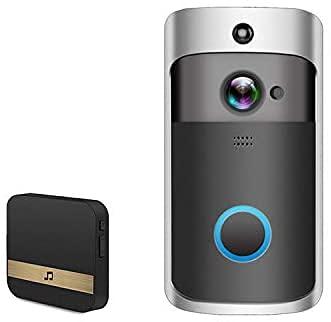 ACESPORT Timbre de vídeo inalámbrico con cámara Wi-Fi con botón de vídeo automático HD puede ver de forma remota videoportero,