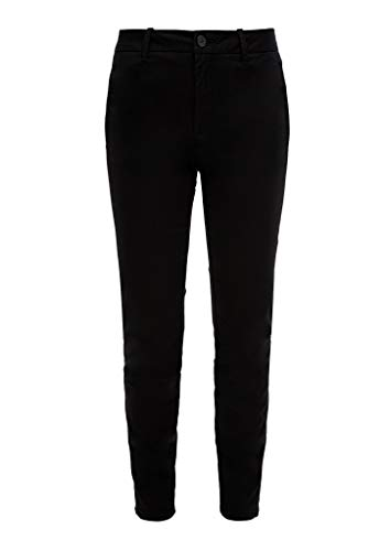 s.Oliver RED Label Damen Slim Fit: Slim Ankle Leg-Chino Black 44