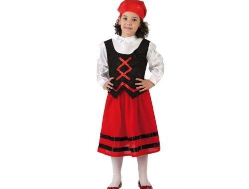 Atosa - Disfraz de pastora rojo y negro, t2