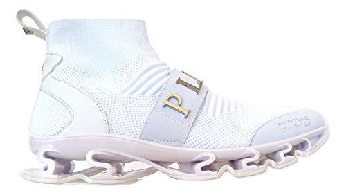 PHILIPP PLEIN Herren Sneakers P19SMSC2019PTE003N Weiß, Weiß - Bianco - Größe: 41 EU