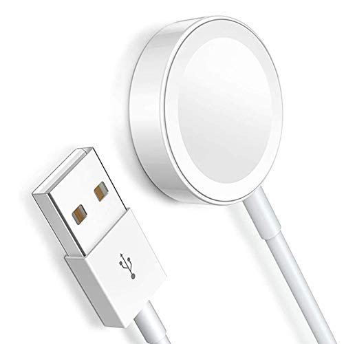 Newest Version for Apple Watch Charger MFi Certified Smart Watch Magnetic Charging Cable Magnetic Charging Pad for Apple Watch Series 5/4/3/2/1 Compatible Size 44mm/42mm/40mm/38mm-White