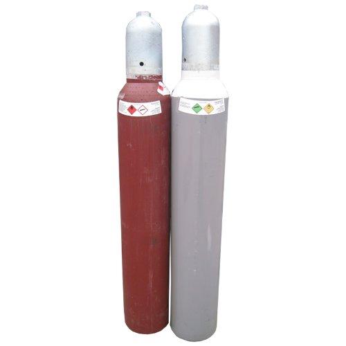 Acetylen + Sauerstoff Gasflaschen je 10 Liter Eigentumsflaschen, Gase Dopp
