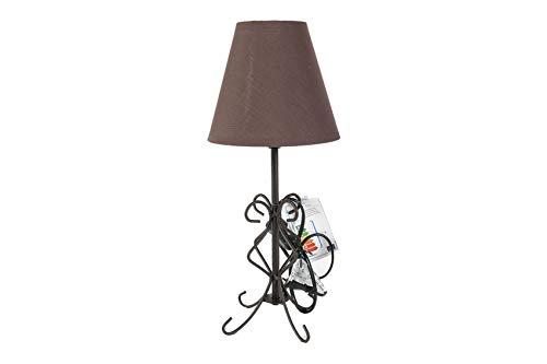 LAMPARA FORJA | IDEAL PARA MESITA DE NOCHE O SALÓN | (Diámetro 16 x altura 37) (lampara 1)
