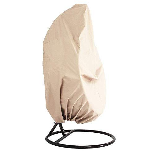 Amusingtao vrsupin0 Dust Cover Waterproof Outdoor Fabric Shade Garden Swing Replacement Hanging Chair Patio Canopy Furniture Dustproof(Beige)