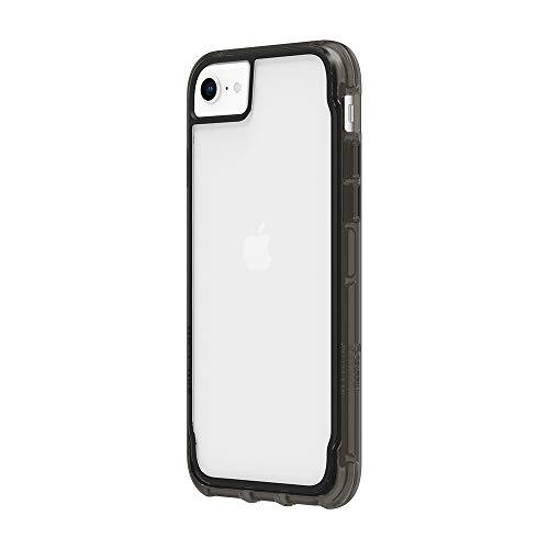 Griffin Survivor - Carcasa Transparente para iPhone XR (Revestimiento Resistente a los arañazos, diseño Fino, Esquinas de absorción de Golpes, Compatible con Qi), Transparente y Negro