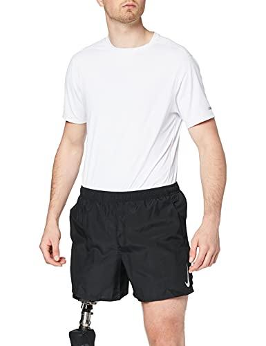 Nike Challenger 5-inch, Pantaloncini Sportivi Uomo, Nero Black/Reflective Silver 010), 48 (Taglia Produttore: X-Large)