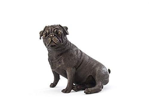 aubaho Bronze MOPS Bulldogge SKULPTUR BRONZEFIGUR Hund BRONZESKULPTUR Hunde ANTIK Stil