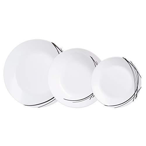 Arcopal Vajilla de Vidrio Opal Extra Resistente, para 6 Personas, Sin BPA, 18 Piezas