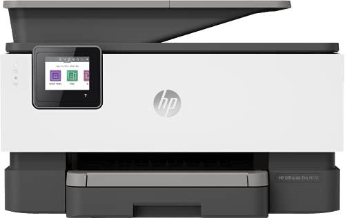HP OfficeJet Pro 9010 3UK83B, Impresora Multifunción Tinta, Color, Imprime, Escanea, Copia y Fax, Wi-Fi, Ethernet, USB 2.0, HP Smart App, Pantalla Táctil Gráfica, Gris