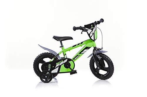 Dino Bikes Jungen Kinderfahrrad Fahrrad, Grün, 12 Inch