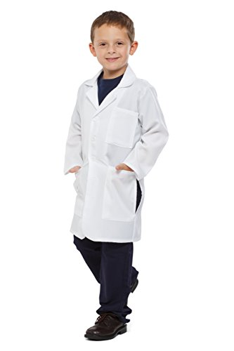 Dress-Up-America Lab Coat For Kids - 3/4 Length Doctor's Lab Coat for Girls And Boys, Lightweight Quality Material