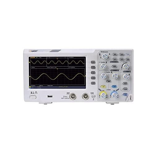 WEI-LUONG Osciloscopio OWON SDS1102 Osciloscopio de Almacenamiento Digital 2 Canales 100MHz Ancho de Banda 7' Pantalla LCD de Mano osciloscopios portátiles USB portátiles