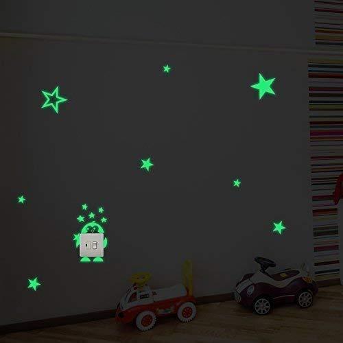 Fillplus Pared Pegatinas diseño de Estrellas y pingüino Sticker Murales Adhesivos Arte salón guardería Escuela Restaurante Hotel Cafe Oficina decoración decoración del hogar, Multicolor
