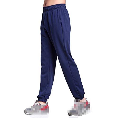 Mannen Effen Baggy Losse Elastische Broek Katoen Joggingbroek Broek Plus Grootte, Blauw Smal, 7XL