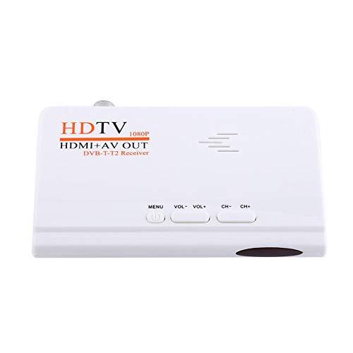Receptor de Sintonizador de TV, HD Receptor,1080P HD HDMI Sintonizador Caja Convertidora de Televisor,HDTV Receptor con Salida HDMI,Negro(Enchufe de la UE)
