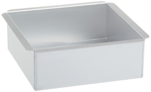 Ateco 8 by 8 by 3-Inch Professional Square Pan Baking Supply, 8 x 8 inch, Silver