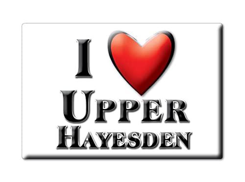Enjoymagnets Upper HAYESDEN (Eng) Souvenir IMANES DE Nevera Inglaterra England IMAN Fridge Magnet Corazon I Love