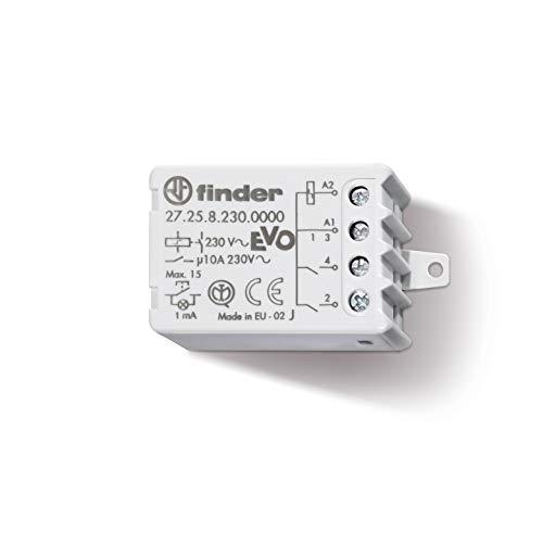 Relè ad impulsi (passo passo) 10 A 230 V - Collegamento con 15 pulsanti luminosi senza adattatore- Tipo 272582300000 - Serie 27 Finder