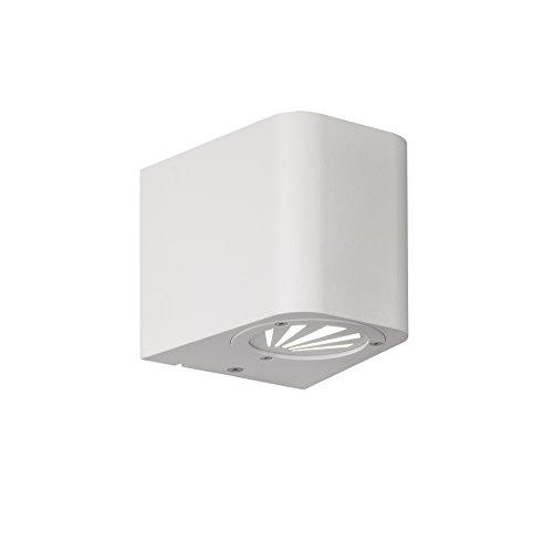 Reality Leuchten R28200601 Bogota A++, LED Außenwandleuchte, Aluminium, 3 watts, Integriert, Weiß, 10, 5 x 9, 8 x 9 cm